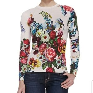 Ted Baker Floral Oil Painting Print Sweater